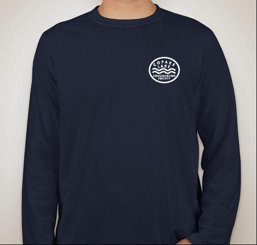 Long Sleeve Navy T Shirt